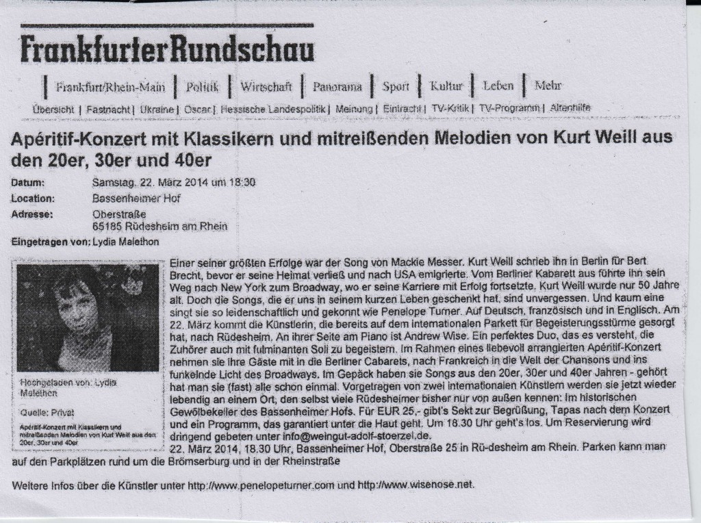 Clipping Frankfurter Rundschau 2014
